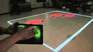 Controlling Robot  Swarm with Touch of Finger