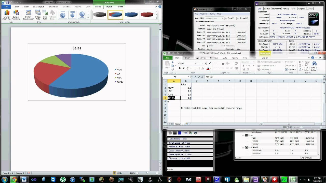 how to make a pie chart in word