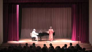 Margaret Wilkinson performing To Daisies by Roger Quilter