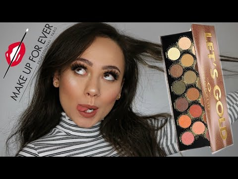 Make Up For Ever Let's Gold Palette | Review, Swatches & Tutorial
