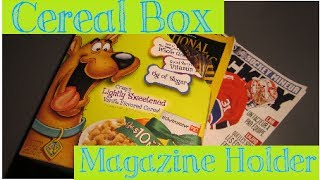 Diy: Cereal Box Magazine Holder - Abcrafts