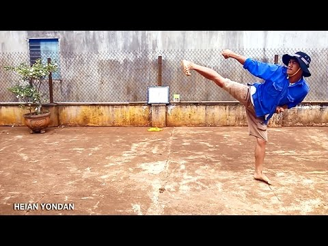 Võ thuật bác nông dân - 7 bài quyền khởi đầu Karate (kungfu farmer - 7 started forms of karate)