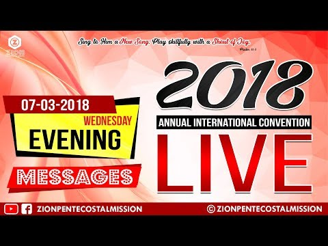 TPM Messages | Live | Wed | Eve | 2018 | Annual International Convention | The Pentecostal Mission