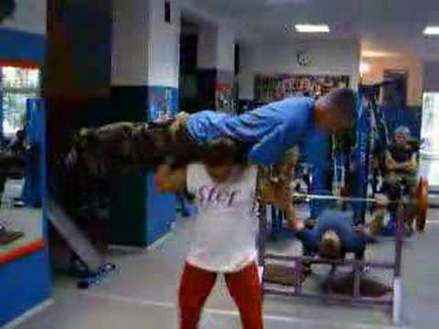 World's Strongest Woman Aneta Florczyk lifting a man