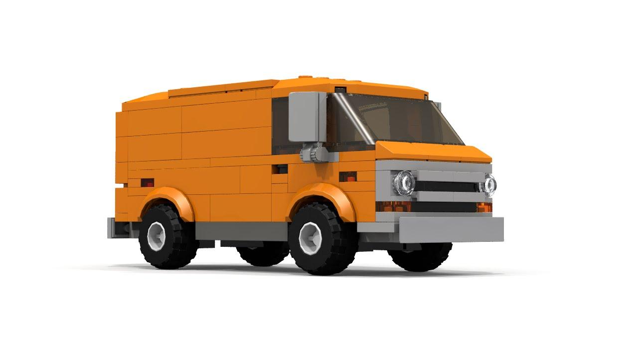 Lego Ford Econoline 100 Cargo Van Instructions Youtube