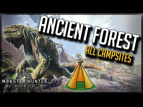 How To Find All Ancient Forrest Camps - Monster Hunter World - Guide 2