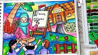 Cara Menggambar Alat Riasan Untuk Anak Anak