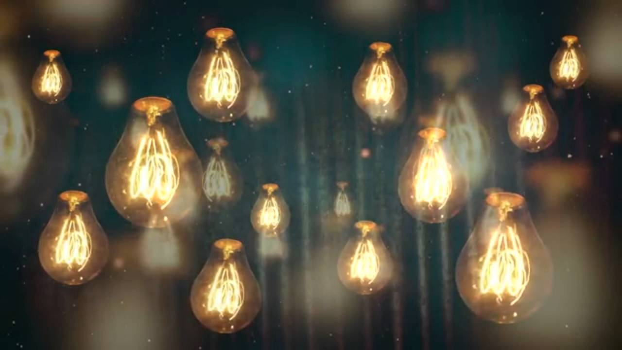 Hanging Edison Lights Moving Vintage Light Bulbs Background Motion Video Loops