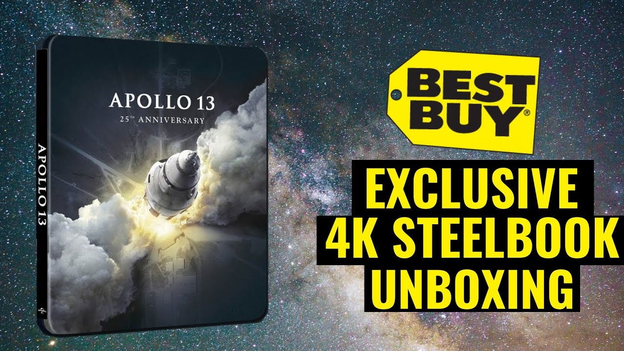 Download Apollo 13 25th Anniversary Best Buy Exclusive 4K Ultra HD Blu-ray Steelbook Unboxing