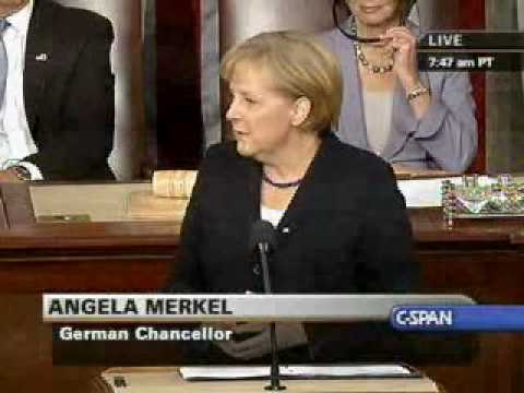 Thumbnail: Chancellor Merkel Addresses Congress (1) on world issues, Meets with Pres. Obama