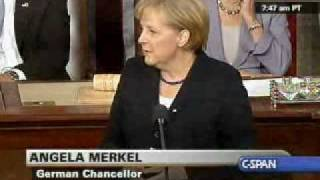 Chancellor Merkel Addresses Congress (1) on world issues, Meets with Pres. Obama