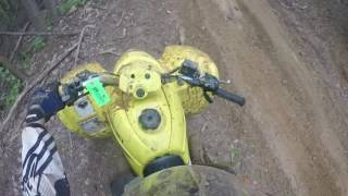 Bad ATV Wreck and Trailriding Brushy Mountain Motor Sports April 2017