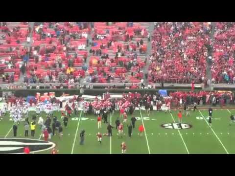 Alabama, Georgia players bark pregame, refs step in