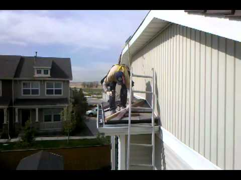 Roofing Englewood, Colorado Safety First Ladder Fall Protection.3gp