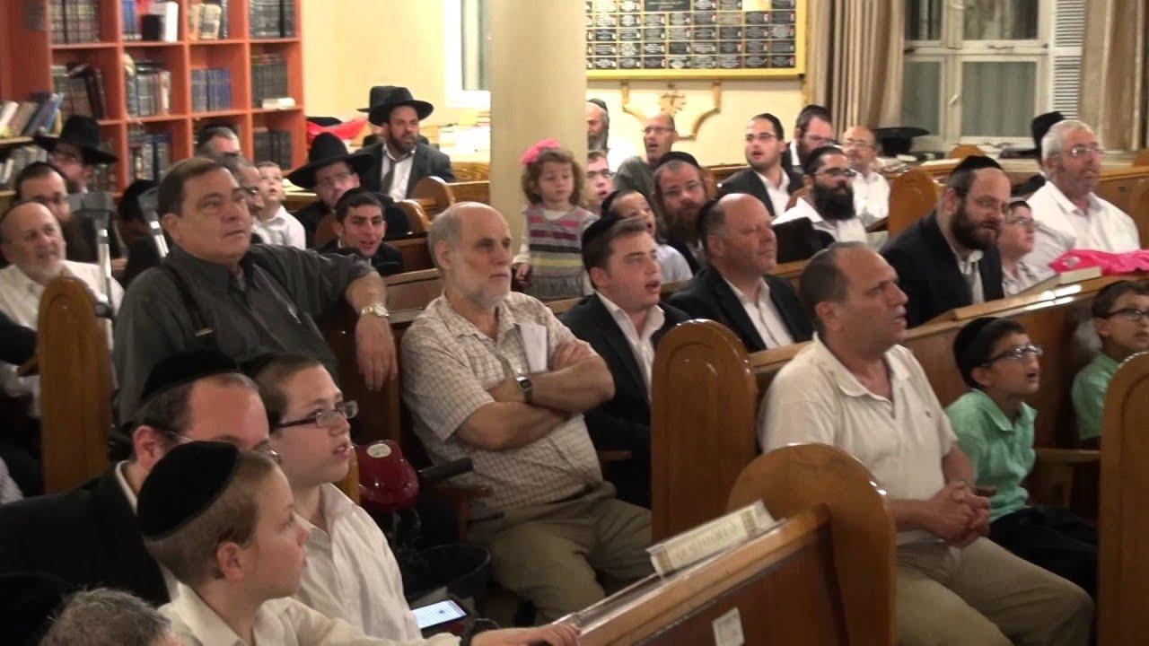 זיץ הרב הלל פלאי בבית המדרש הגדול 3/7 Kumzitz Rav Hilel Paley