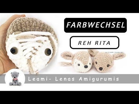 Punkte beim Amigurumi Reh Rita aufsticken - YouTube | 360x480