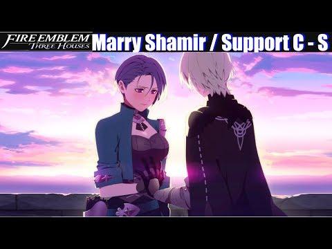 FE3H Marriage / Romance Shamir (C - S Support) - Fire Emblem Three Houses