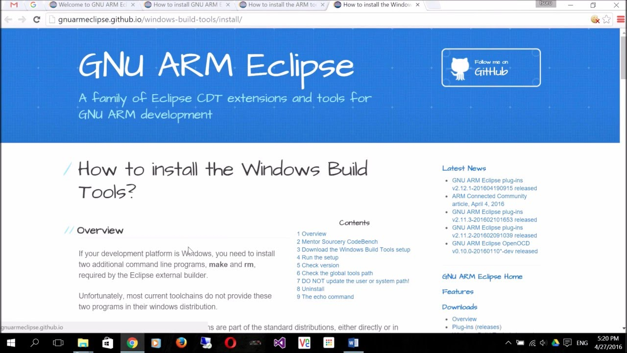 Installing GNU ARM Eclipse with OpenOCD