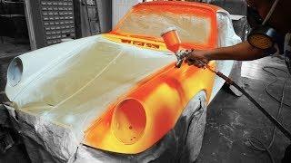 Pintando el Porsche 911