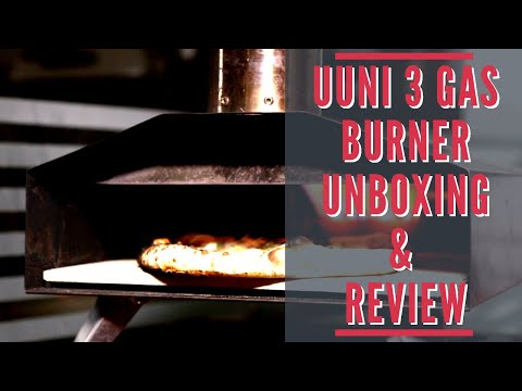 Ooni 3 Gas Burner Unboxing and Pizza Making Test
