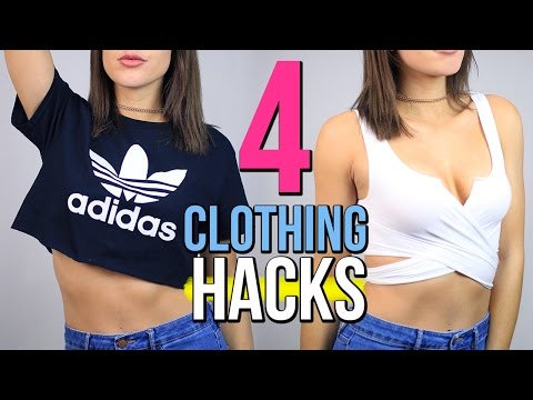 4 DIY CLOTHING Life Hacks EVERY Girl Should Know!