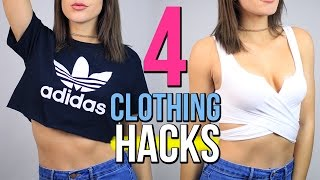 One of Laura Reid's most viewed videos: 4 DIY CLOTHING Life Hacks EVERY Girl Should Know!