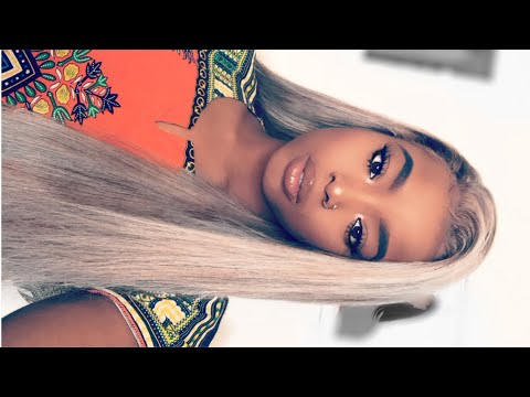 HOW TO: TURN YOU LACE FRONT WIG FROM BLACK TO ASH BLONDE  Detailed step  step
