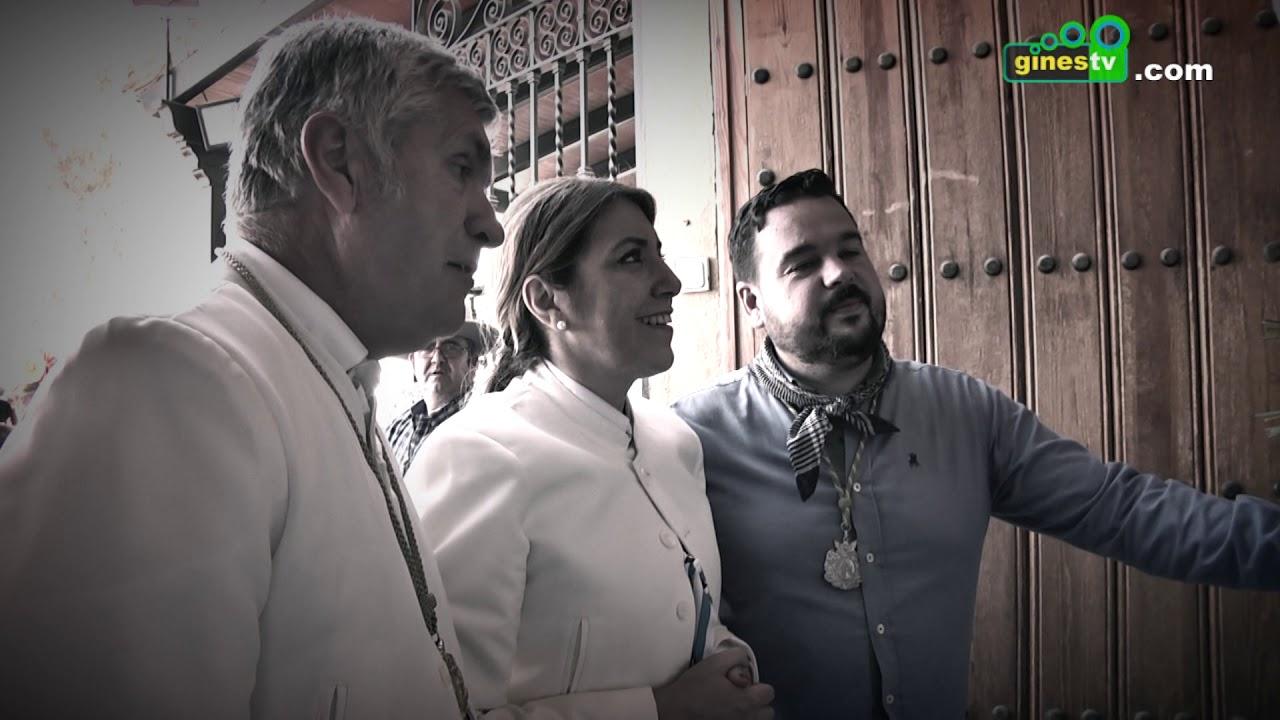 Momentos de Gines ante la Hermandad Matriz 2018.