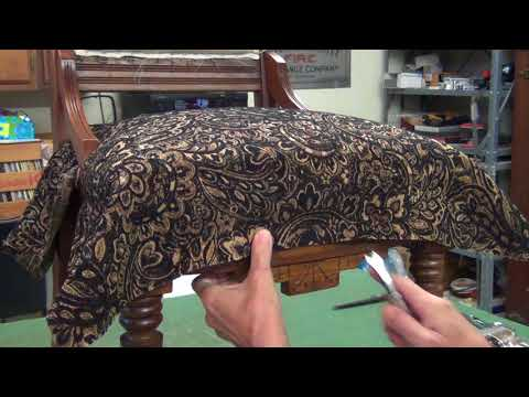 Eastlake Chair Upholstery - Fabric Application