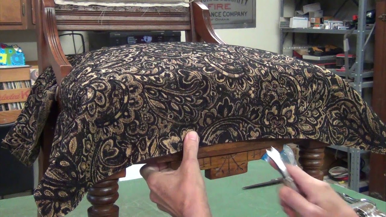 Eastlake Chair Upholstery   Fabric Application
