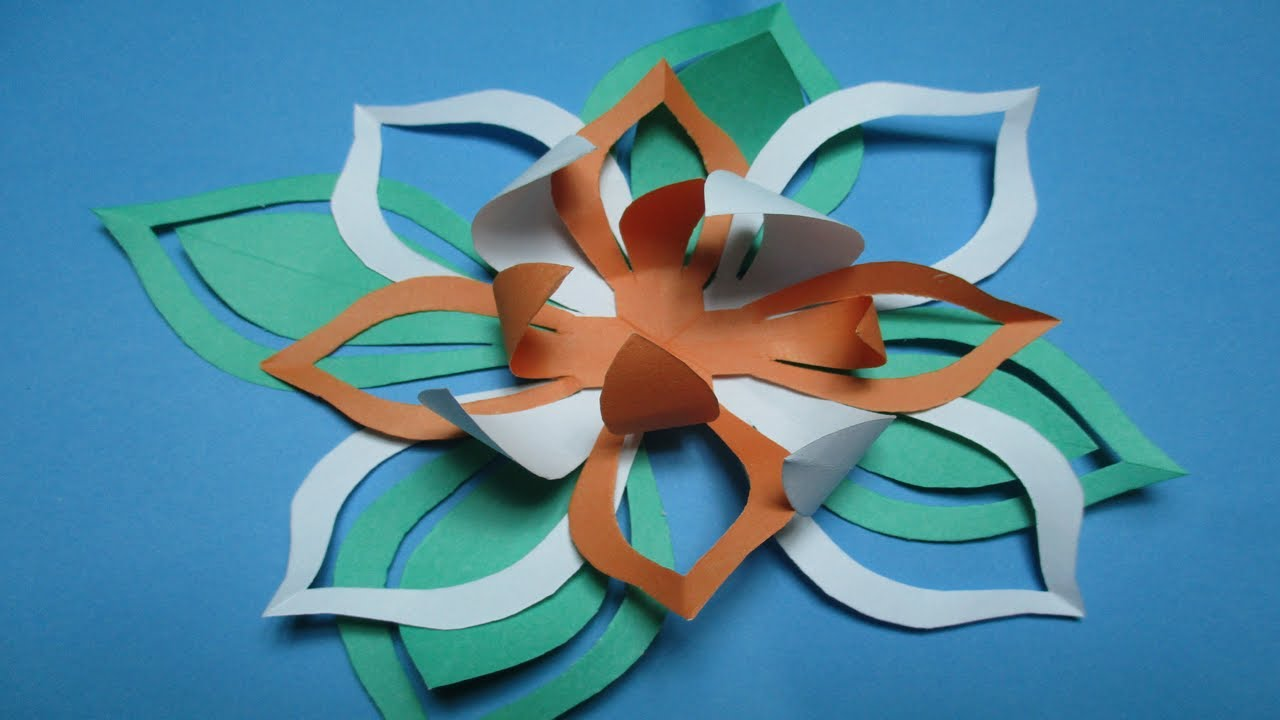 How to make simple easy paper cutting flower designs diy how to make simple easy paper cutting flower designs diy tutorial paper flowers step by step dhlflorist Gallery