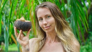 My Rainy Morning Routine Offgrid | Making coconut bowl