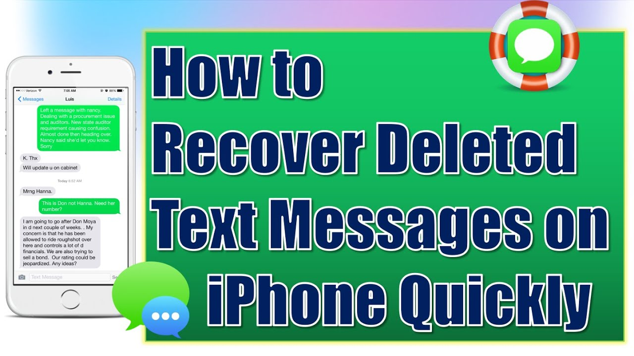how to retrieve deleted texts from iphone 5 how to recover deleted text messages from iphone for free 20980