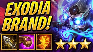 ⭐⭐⭐ 3 STAR EXODIA BRAND w/ 6 INFERNO! | Teamfight Tactics Set 2 | TFT | League of Legends Auto Chess