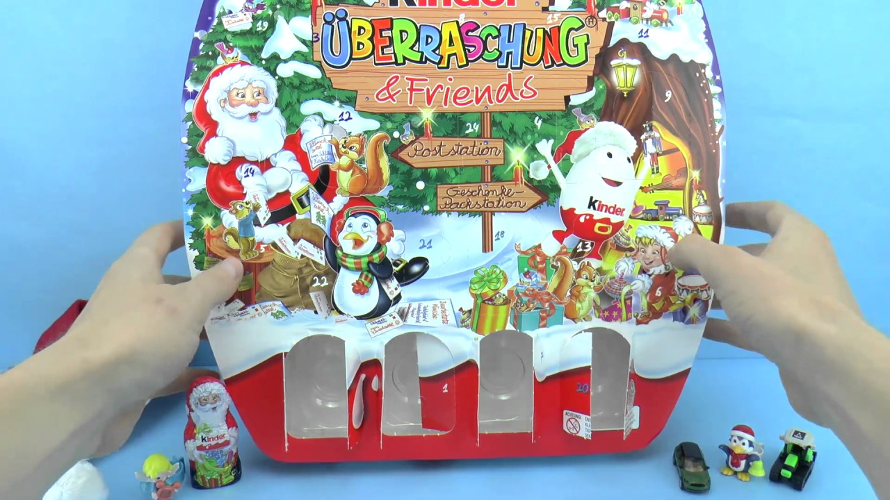 kinder berraschung friends adventskalender 11x kinder berraschung youtube. Black Bedroom Furniture Sets. Home Design Ideas