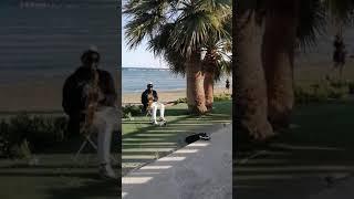 Кипр 2021 Ороклини Ларнака Морской променад в районе отеля Palm beach Shorts