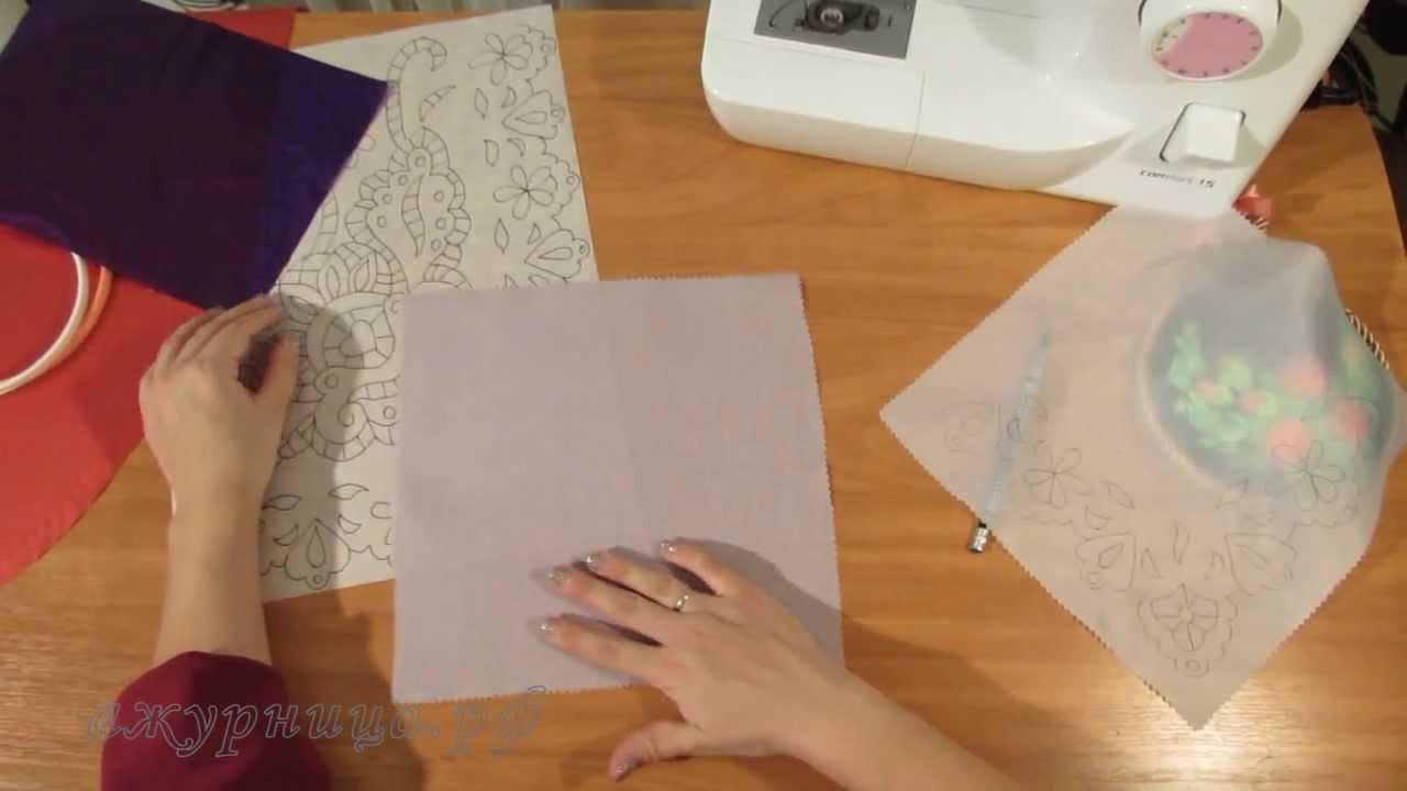 Как нарисовать вышивку на ткани