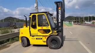현대 포렉스 3.5톤 3단마스타 디젤지게차 6미터상승