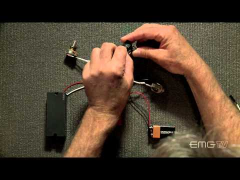 EMG solderless BTS and BQC control install for bass