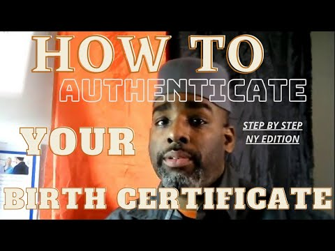 Authenticate Your Birth certificate - followup