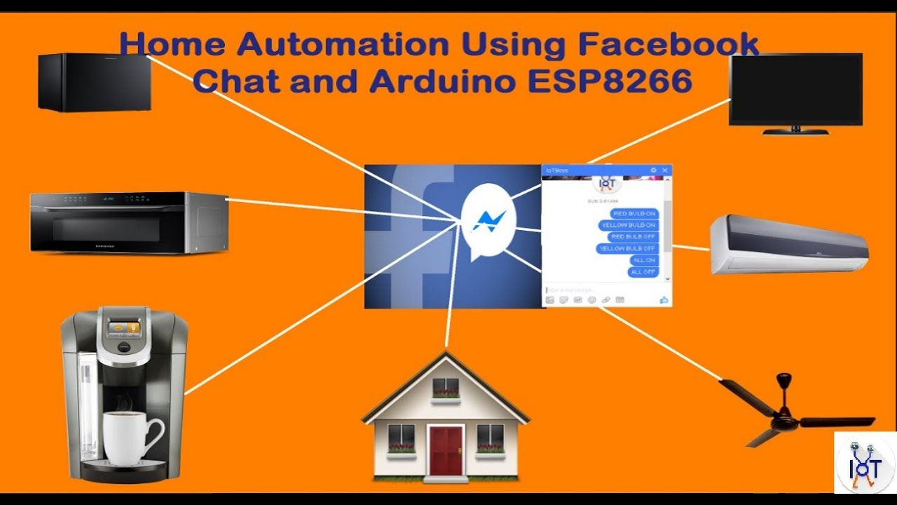 Home Automation Using Facebook Chat And Arduino Esp8266 Wifi Rest Call Arduino Iot