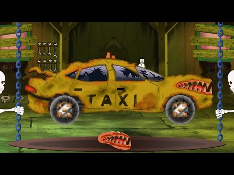 taxi | Halloween car garage | scary videos for children