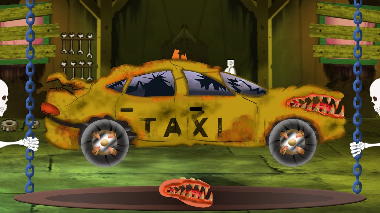 Taxi Halloween Car Garage Scary Videos For Children