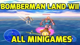 Bomberman Land (Wii) - All Minigames