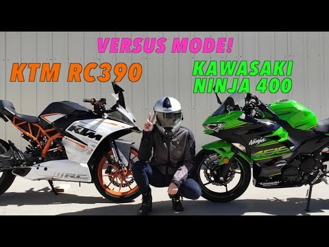 Kawasaki Ninja 400 and the KTM RC390 in Versus Mode : Gakimoto