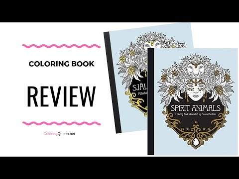 Spirit Animals Coloring Book Review - Hanna Karlzon