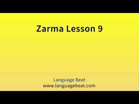 Learn Zarma   :  Lesson 9  -  Zarma  Phrases for Beginners
