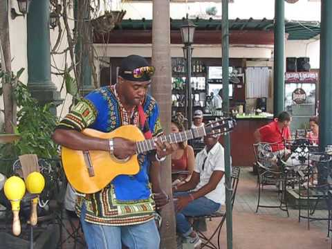 Great Tres Player In Cuba In Concert April 2016