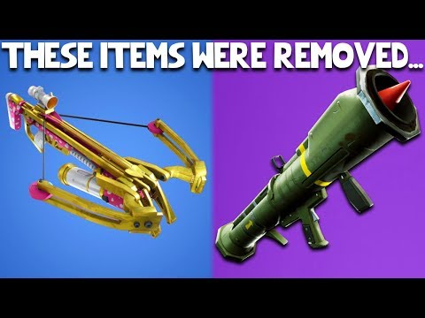 10 Things That Have Been REMOVED From Fortnite Battle Royale!   Crossbow, Guided Missile, & MORE!