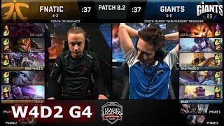 Fnatic vs Giants | Week 4 Day 2 of S8 EU LCS Spring 2018 | FNC vs GIA W4D2 G4